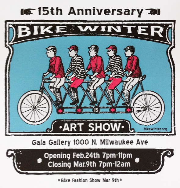 15th Chicago Bike Winter Art Show