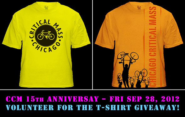CCM 15th Anniversary – Fri Sep 28, 2012. Volunteer for the t-shirt giveaway!